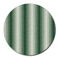 Dark Green Curly Stripes 8  Mouse Pad (round) by BestCustomGiftsForYou