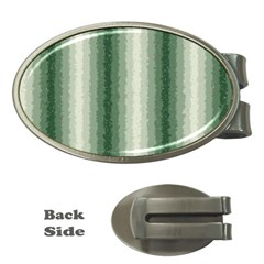 Dark Green Curly Stripes Money Clip (oval) by BestCustomGiftsForYou