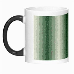Dark Green Curly Stripes Morph Mug by BestCustomGiftsForYou