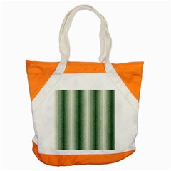 Dark Green Curly Stripes Accent Tote Bag by BestCustomGiftsForYou