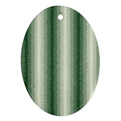 Dark Green Curly Stripes Oval Ornament (two Sides) by BestCustomGiftsForYou