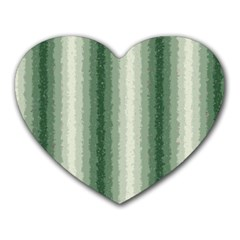 Dark Green Curly Stripes Mouse Pad (heart) by BestCustomGiftsForYou