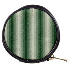 Dark Green Curly Stripes Mini Makeup Case by BestCustomGiftsForYou