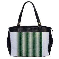 Dark Green Curly Stripes Oversize Office Handbag (one Side) by BestCustomGiftsForYou