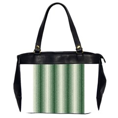 Dark Green Curly Stripes Oversize Office Handbag (two Sides) by BestCustomGiftsForYou