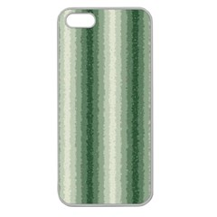 Dark Green Curly Stripes Apple Seamless Iphone 5 Case (clear) by BestCustomGiftsForYou