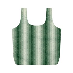 Dark Green Curly Stripes Reusable Bag (m) by BestCustomGiftsForYou