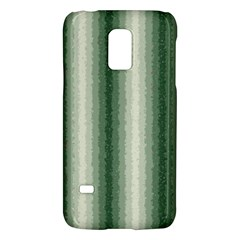 Dark Green Curly Stripes Samsung Galaxy S5 Mini Hardshell Case  by BestCustomGiftsForYou
