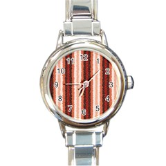 Native American Curly Stripes   1 Round Italian Charm Watch by BestCustomGiftsForYou