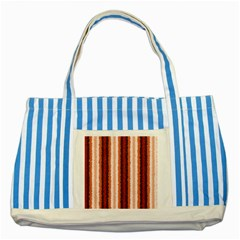 Native American Curly Stripes   1 Blue Striped Tote Bag by BestCustomGiftsForYou
