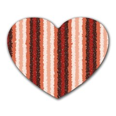Native American Curly Stripes   1 Mouse Pad (heart) by BestCustomGiftsForYou