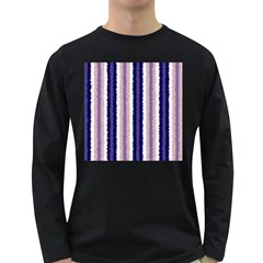 Native American Curly Stripes   2 Men s Long Sleeve T Shirt (dark Colored)