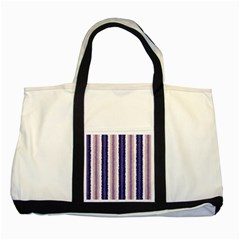 Native American Curly Stripes   2 Two Toned Tote Bag by BestCustomGiftsForYou