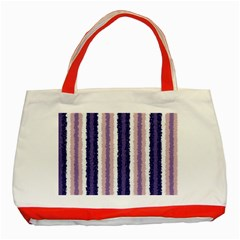 Native American Curly Stripes   2 Classic Tote Bag (red) by BestCustomGiftsForYou