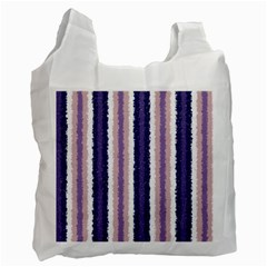 Native American Curly Stripes   2 White Reusable Bag (one Side) by BestCustomGiftsForYou