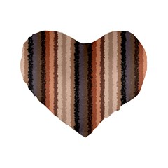 Native American Curly Stripes - 4 16  Premium Heart Shape Cushion  by BestCustomGiftsForYou