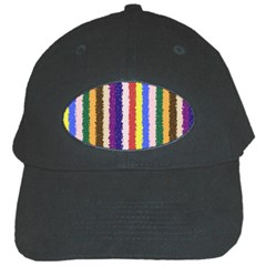 Vivid Colors Curly Stripes   1 Black Baseball Cap by BestCustomGiftsForYou