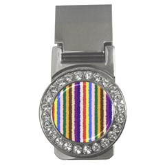 Vivid Colors Curly Stripes   1 Money Clip (cz) by BestCustomGiftsForYou