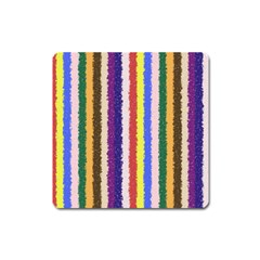Vivid Colors Curly Stripes   1 Magnet (square) by BestCustomGiftsForYou