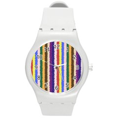 Vivid Colors Curly Stripes   1 Plastic Sport Watch (medium) by BestCustomGiftsForYou