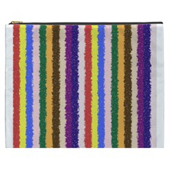 Vivid Colors Curly Stripes   1 Cosmetic Bag (xxxl) by BestCustomGiftsForYou