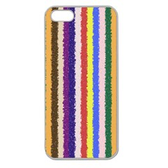 Vivid Colors Curly Stripes   1 Apple Seamless Iphone 5 Case (clear) by BestCustomGiftsForYou