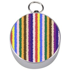 Vivid Colors Curly Stripes   1 Silver Compass by BestCustomGiftsForYou