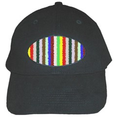 Vivid Colors Curly Stripes   2 Black Baseball Cap by BestCustomGiftsForYou