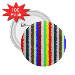 Vivid Colors Curly Stripes   2 2 25  Button (100 Pack) by BestCustomGiftsForYou