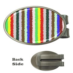 Vivid Colors Curly Stripes   2 Money Clip (oval) by BestCustomGiftsForYou