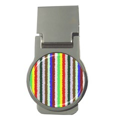 Vivid Colors Curly Stripes   2 Money Clip (round) by BestCustomGiftsForYou