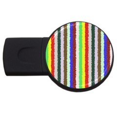 Vivid Colors Curly Stripes   2 2gb Usb Flash Drive (round) by BestCustomGiftsForYou
