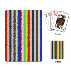 Vivid Colors Curly Stripes   2 Playing Cards Single Design by BestCustomGiftsForYou