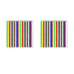Vivid Colors Curly Stripes   2 Cufflinks (square) by BestCustomGiftsForYou