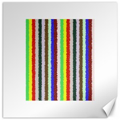 Vivid Colors Curly Stripes   2 Canvas 20  X 20  (unframed) by BestCustomGiftsForYou