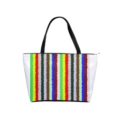 Vivid Colors Curly Stripes   2 Large Shoulder Bag by BestCustomGiftsForYou