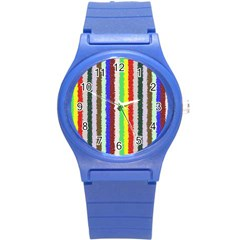 Vivid Colors Curly Stripes   2 Plastic Sport Watch (small) by BestCustomGiftsForYou