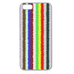 Vivid Colors Curly Stripes   2 Apple Seamless Iphone 5 Case (clear) by BestCustomGiftsForYou