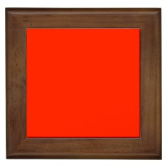 Bright Red Framed Ceramic Tile