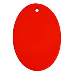 Bright Red Oval Ornament