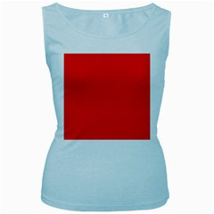 Bright Red Women s Tank Top (baby Blue)