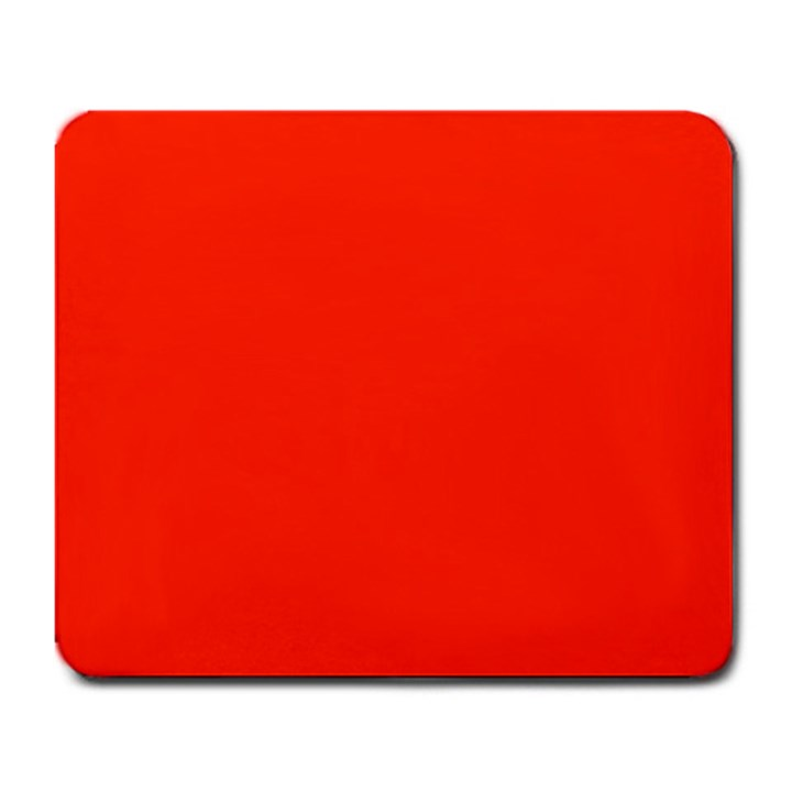 Bright Red Large Mouse Pad (Rectangle)