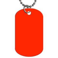 Bright Red Dog Tag (two Sided)  by BestCustomGiftsForYou