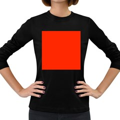 Bright Red Women s Long Sleeve T Shirt (dark Colored)