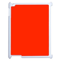 Bright Red Apple Ipad 2 Case (white) by BestCustomGiftsForYou