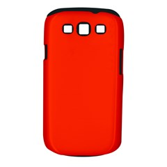 Bright Red Samsung Galaxy S Iii Classic Hardshell Case (pc+silicone)