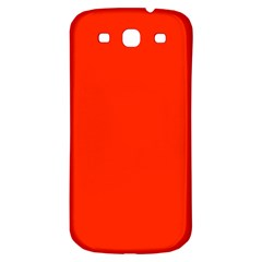 Bright Red Samsung Galaxy S3 S Iii Classic Hardshell Back Case
