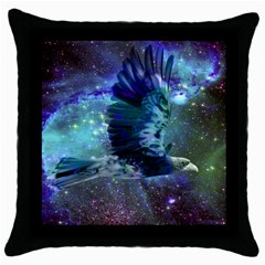 Catch A Falling Star Black Throw Pillow Case by icarusismartdesigns