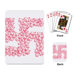 Swastika With Birds Of Peace Symbol Playing Cards Single Design