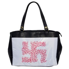 Swastika With Birds Of Peace Symbol Oversize Office Handbag (one Side) by dflcprints